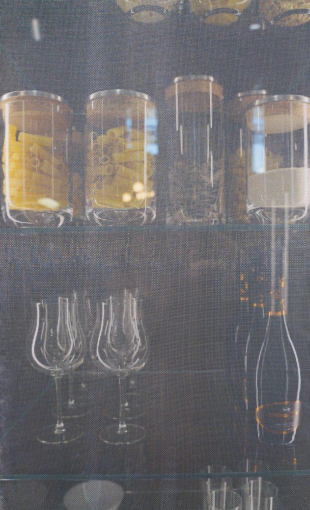 sklenená výplň s použitím kovovej siete