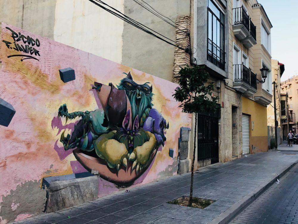 Orihuela - graffity v uliciach ľavého brehu rieky Segury