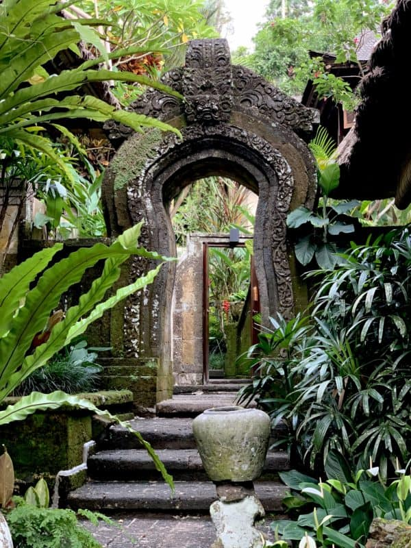 Ubud hotelová záhrada